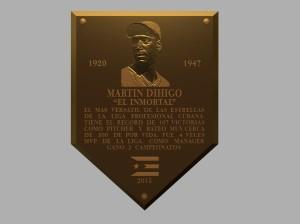 Placa conmemorativa para la inauguración (propuesta fundida en bronce)