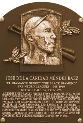 Placa de José de la Caridad Méndez