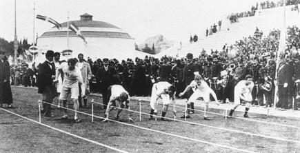 La Primera carrera de 100 metros en Juegos Olimpicos