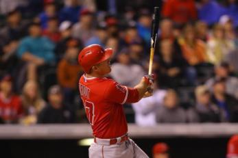 Mike Trout aline´por la Liga Americana