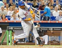 Yoenis Céspedes con los Mets