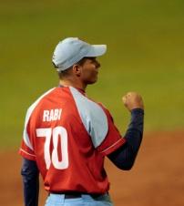 Rabi, tiro un buen relevo.  Foto: Ismael Francisco/Cubadebate.