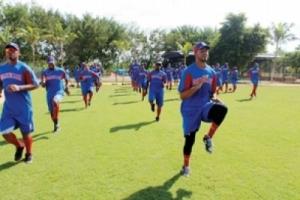 Equipo de Rep. Dominicana entrenando